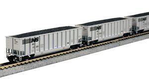 N Scale KATO Bethgon Coalporter NORFOLK & SOUTHERN (8) Car Set Item #106-4630