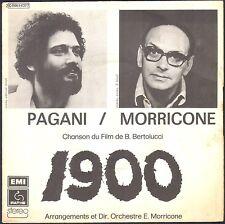 HERBERT PAGANI / ENNIO MORRICONE 1900 45T SP 1976 PATHE 14.377 DISQUE QUASI NEUF