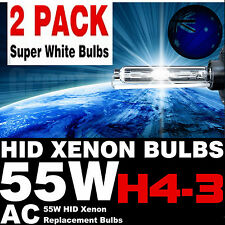55W HID Xenon H4 Hi/Low Bi-Xenon Pair Globe Bulb Replacement Bulb 5000K Au