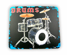 Mouse Mat - Drum Kit - Music Gift - Musical Mouse Mat - Gift for Drummer