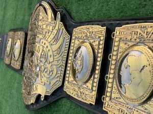 TNA world heavyweight championship belt 4mm Zinc replica Original leather strap