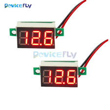 2PCS Mini Red LED Panel Voltage Meter 3-Digital Adjustment Voltmeter DC 4.7~32V