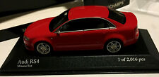 AUDI RS 4 2005 MINICHAMPS 400014600 1/43 SCALE RED METALLIC