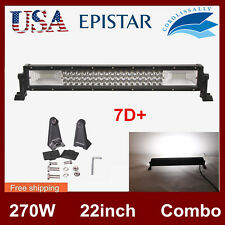 "270W 22Inch 7D+ LED WORK LIGHT BAR Combo Truck Off road Driving Lamp vs 20"" 120W"