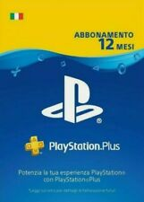 Abbonamento PLAYSTATION PLUS 12 Mesi - 365 GIORNI PSN PS4 PS3 PS Vita 🇮🇹