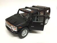 """5"""" New Kinsmart 2008 Hummer H2 SUV 1:40 Diecast Toy Car Model Matte Black"""