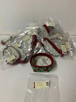 Lot of 35 Longaberger 2004 Holiday Helper Basket American Holly Fabric Liner