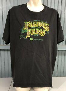John Deere Famous On The Farm Tractor XXL T-Shirt