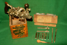 FINE Early Antique Stanley Sweetheart No 45, Combination w/Box +Cutters Inv#LC02