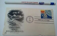 MAY 21 1981 SPACE ACHIEVEMENT US SPACE SHUTTLE SINGLE STAMP FIRST DAY COVER