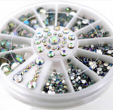 Mixed Lot 3D Glitter Crystal Rhinestones Nail Art Tips Decor DIY Accessories JD