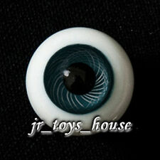 Extra High Grade & Quality Glass Eye 8mm Sea Blue Vein HG Brownies PF Lati White