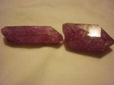 cristalloterapia PUNTA DI QUARZO ARCOBALENO VIOLA cristallo di rocca minerale 2