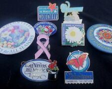 9 Mix PINS & BADGES- USA Cities Org.s- IBM, Edison, United Airlines, Temple City