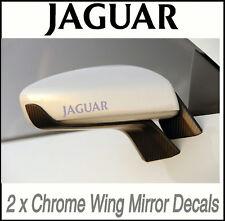 JAGUAR CHROME WING MIRROR DECALS STICKERS VINYL MOD  X2