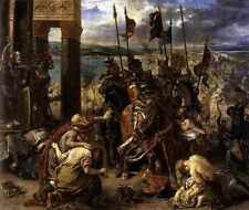 Eugene Delacroix The Entry Of The Crusaders Into Constantinople A4 Print