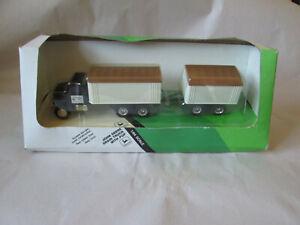 1987 Ertl John Deere Grain Truck with Pup Trailer #5543 USA 1/64 Scale