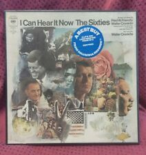 I CAN HEAR IT NOW THE SIXTIES 3 LP BOX Walter Cronkite VG to EX Kennedy Malcol x