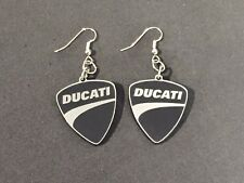 Orecchini Ducati Earrings in plexiglass riproduzione artigianale ARGENTO-NERI