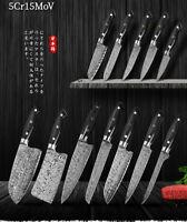 Couteau de cuisine Sashimi Kiritsuke Chef SET couteaux de cuisine Manche en bois