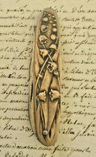 Ancien Couteau Canif au joli motif de Muguet Châtelaine  Art Nouveau Argent
