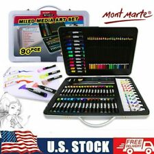 90-Piece Child ART SUPPLIES KIT Kid Sketching Adult Painting Drawing Set US