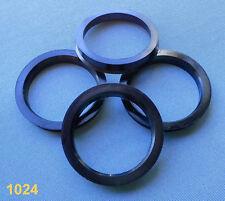 (1024) 4 x 69,1 anillas de centrado/57,1 mm negro 9,5mm para llantas de aluminio