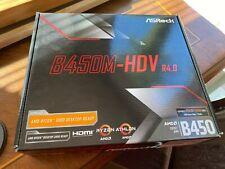ASRock B450 B450M R4.0 AM4 AMD Promontory SATA 6GB/s USB 3.1 HDMI Micro ATX...