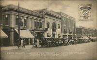 South Manchester CT Farr Block Manchester Trust Co 1923 Centennial Postcard
