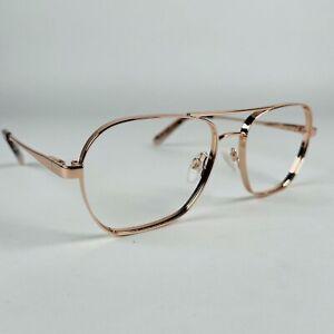 SPECSAVERS eyeglasses  ROSE GOLD AVIATOR SQUARE glasses frame MOD: 30827875