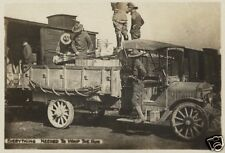 """US Army Soldiers With Transport Truck World War 1, 6x4"""" Reprint Photo a"""