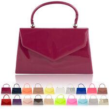 Top Handle Patent Women Clutch Bag Bridal Designer Ladies Evening Party Handbags