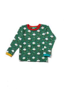 Little Green Radicals Organic Falling Water Long Sleeved T shirt Top 6 9 12 18