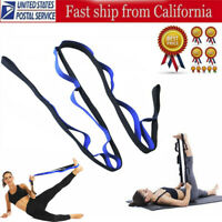 Non Elastic Restore Multi-Grip Stretch Strap Yoga stretching Belt for Fitness