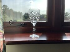 More details for royal doulton crystal georgian pattern large wine glass signed 16.5 cm