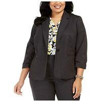 MSRP $129 Kasper Womens Black Blazer Wear to Work Jacket Size 14W