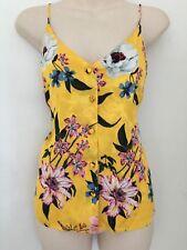 New Ex Topshop Ladies Vest Cami Top Style Button Front Plus Size 6-18