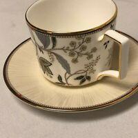 NEW WEDGWOOD PASHMINA COFFEE TEA CUP & SAUCER W/ ORIGINAL STICKER TAG FREE SHIP