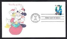 MICKEY MOUSE & DONALD DUCK CHRISTMAS Stamp First Day Cover MhCachets #2 of 2