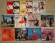 """LATIN JAZZ 7"""" EP VINYL SINGLE JOBLOT COLLECTION Picture Sleeves Cha Cha 60s EPs"""