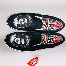 VANS Sex Pistols Classic Slip On Black Multicolor Shoes VN-0JYP1GM Size 9.5