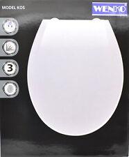 WC Sitz Klodeckel Toilettendeckel Abnehmbar mit Softclose Absenkautomatik Weiss