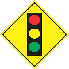 "TRAFFIC LIGHT AHEAD / WARNING SIGN / CAUTION SIGN / ROAD SIGNS  / 12"" X 12 """