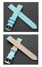 haute qualité cuir véritable Bracelet montre 14 mm, turquoise NEUF