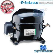3S MOTORE Compressore FRIGO R404A 3/4 Hp 14,3 cm3 Embraco Aspera NEK2168GK CSIR