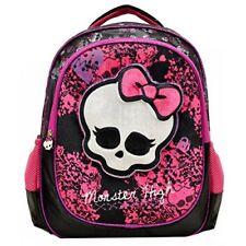 """New Monster High Deluxe 3D Plush Velvet 16"""" Large School Backpack for Girls"""