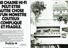 Publicité Advertising 068  1977   Radiola chaine hi-fi  (2 pages)j