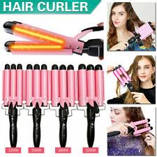 Digital Salon Ceramic Triple Barrel Hair Wave Waver Curling Iron Curler Wand NEW