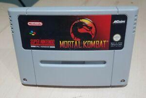 Mortal Kombat Super Nintendo SNES  UK Pal Cart Only Tested Cleaned.