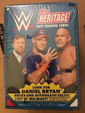 2017 WRESTLING WWE TOPPS HERITAGE 7 PACK PLUS 1 RELIC CARD SEALED BOX BRYAN